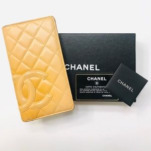 CHANEL Ligne Cambon Yen Wallet Serial:10025657